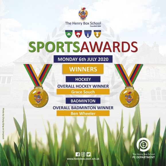 Virtual sports awards results for media mon 6th 12pm