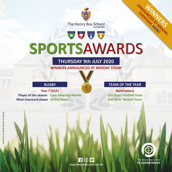 Virtual Sports awards Results for media Thur 9th 9am