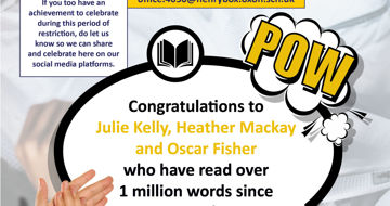Celebrating student success - Millionaire readers