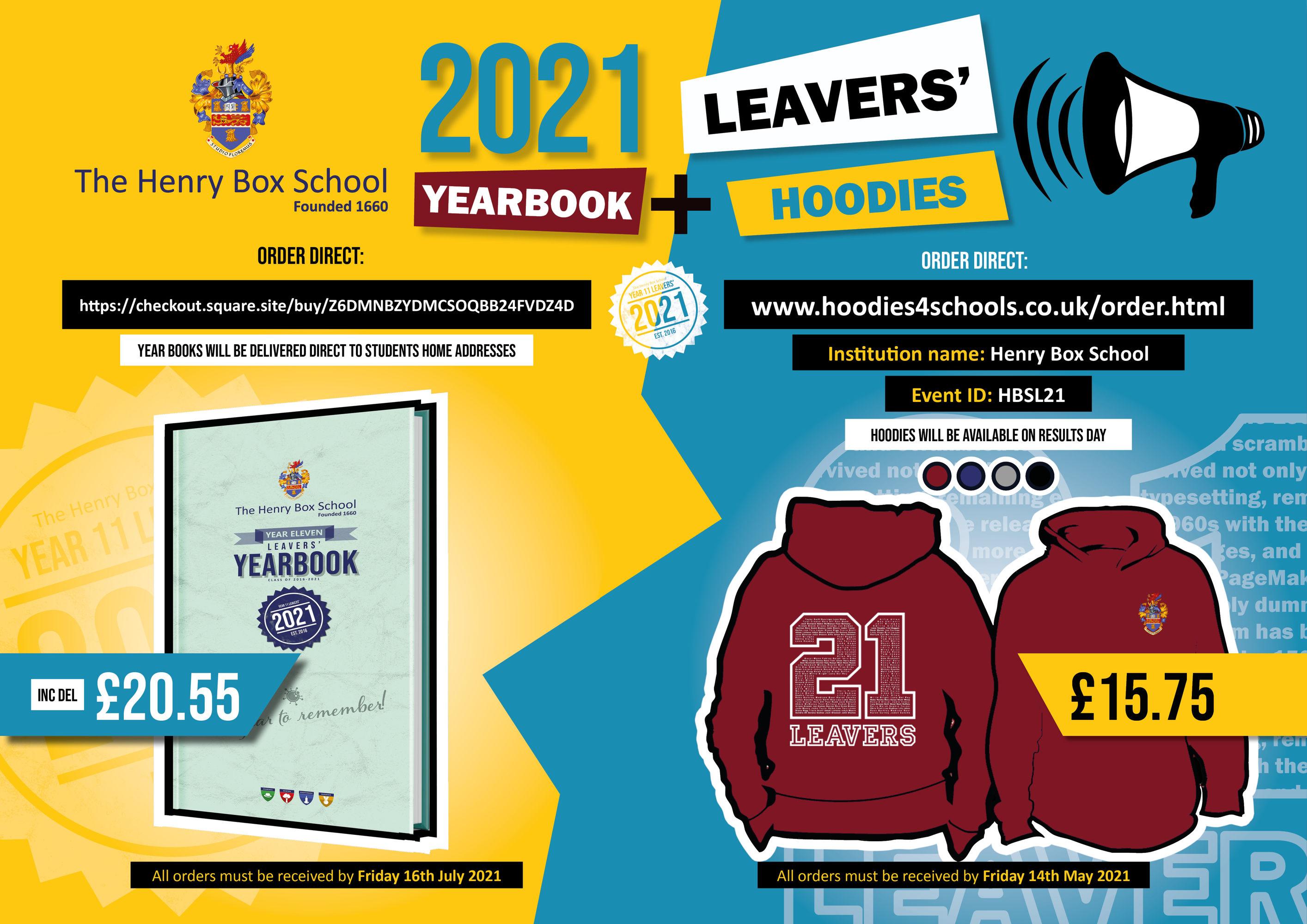 Leavers Hoodie yearbook poster 0321