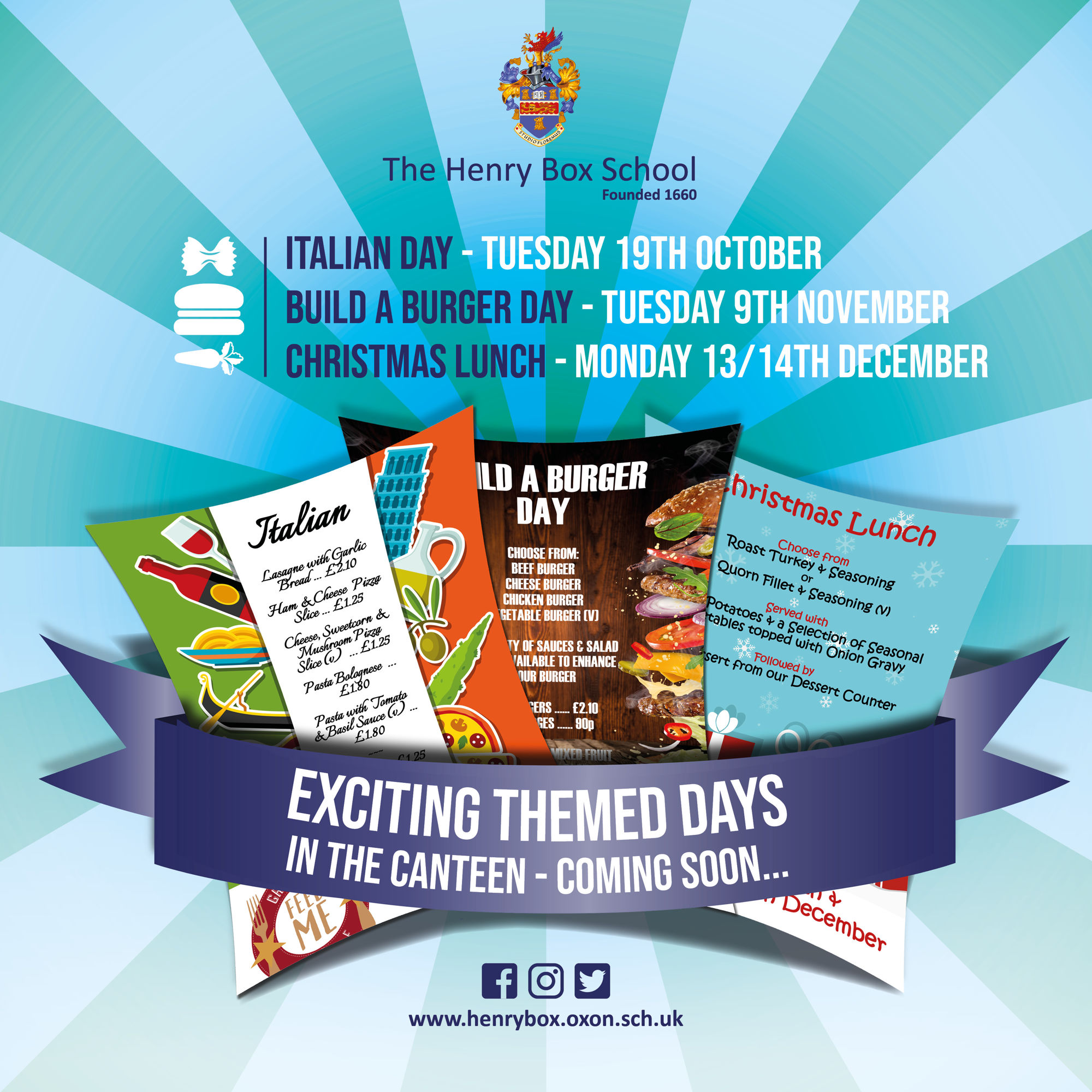 HBS Themed canteen days poster 0921