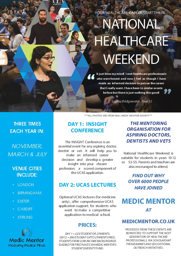 National Healthcare Weekend Flyer