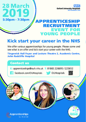 Nhs apprenticeship a5 flyer event recruitment march2019