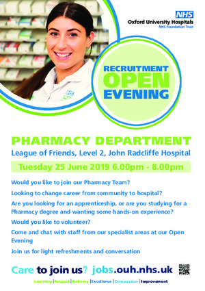 Careers ouh pharmacy open evening a5 flyer